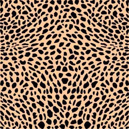 ベクトル イラスト パターン背景チーター スキン
