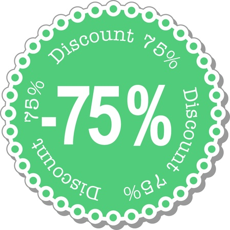 seventy: illustration stickers for seventy five percent discount