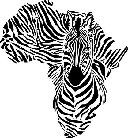 黒い大陸シマウマ迷彩で  イラスト・ベクター素材