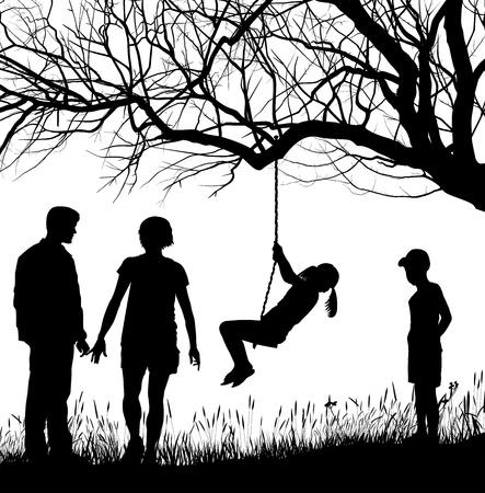 vector illustration Family in autumn nature Stock Vector - 16716900