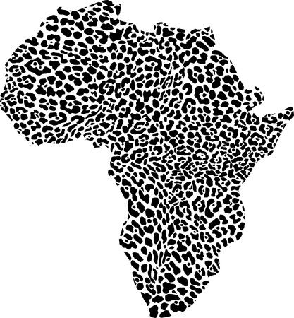 afrika:  illustration of africa as a leopard skin Illustration