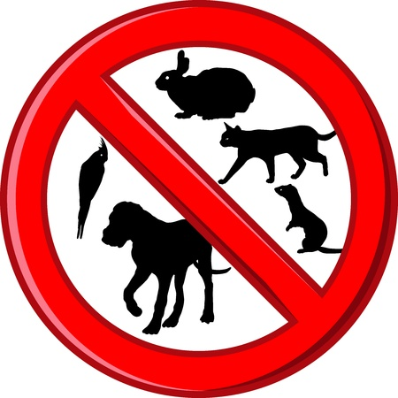 vector illustration symbol no pets allowed in this area prohibited  Stock Vector - 17168921