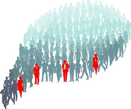 personas comunicandose: Ilustración de las diferentes personas que sobresalen en el grupo Vectores