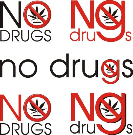 prohibiting: Vector prohibiting drug means no drugs