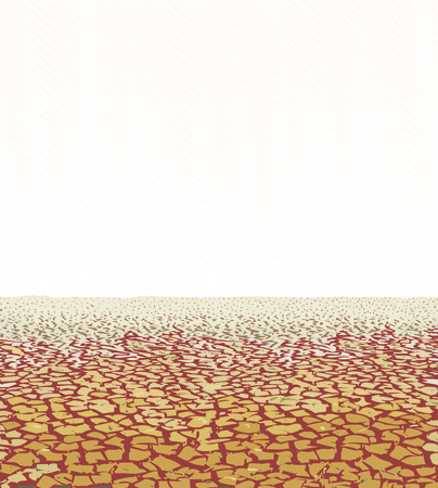 desiccation: illustration cracked extremely dried soil on the savannah