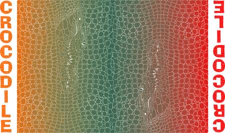crocodile skin: illustration background with colored crocodile skin