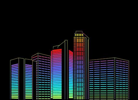 contraste: Contraste Ilustraci�n ciudad hist�rica y moderna