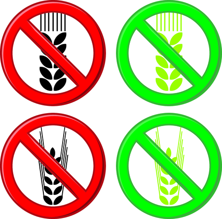 celiac disease: Symbol sign food for celiacs