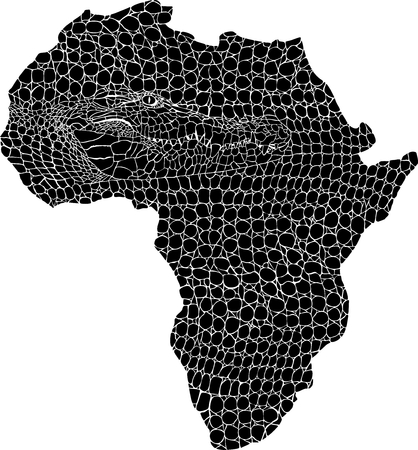 crocodile skin: vector illustration of abstract Africa as a crocodile skin