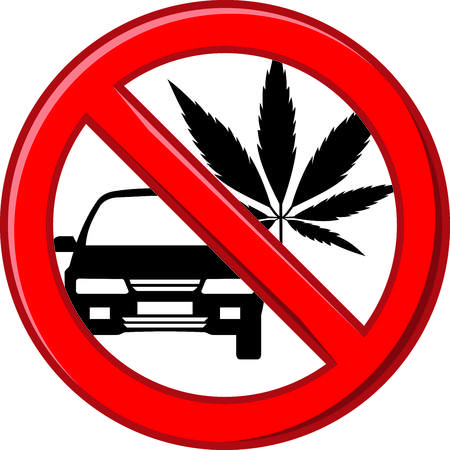vector art pictogram prohibition on the use of drugs before or while driving a car Illustration