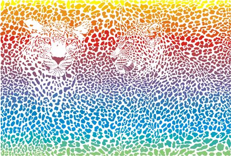 Vector illustration Leopard abstract background