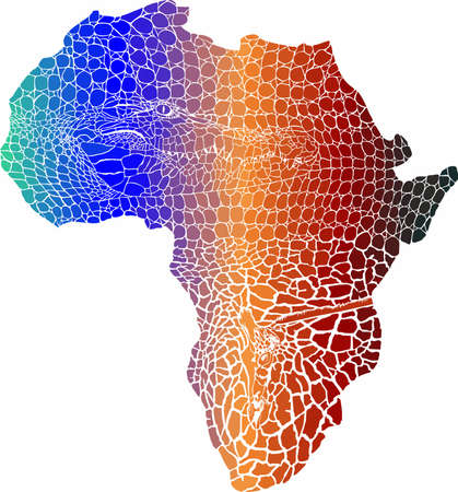 vector illustration of color abstract Africa as a crocodile and giraffes skin Vecteurs