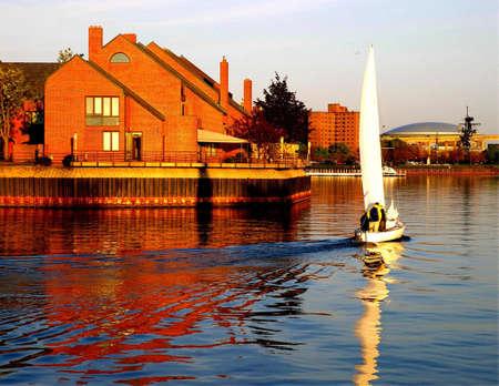 boot aan de waterkant in Buffalo NY