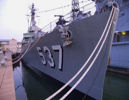 WW2 old war ship at the waterfront museum in buffalo ny