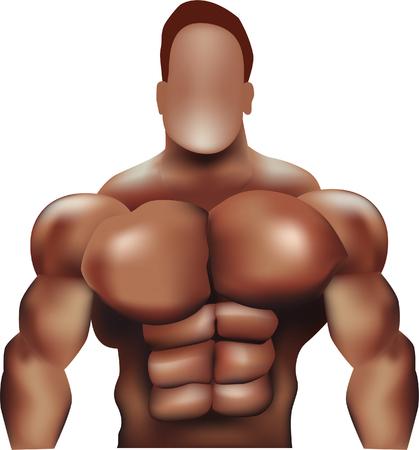 flexing muscles: Bodybuilder