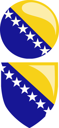 bosnia: Bosnia flag Illustration