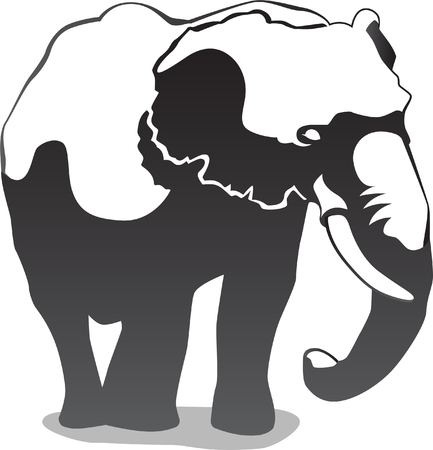 hoofed mammal: Elephant Illustration