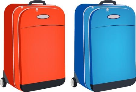 casters: Suitcase