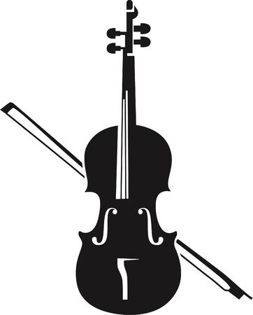 classical theater: Violin silhouette