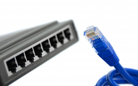 ftp servers: blue cable and switch