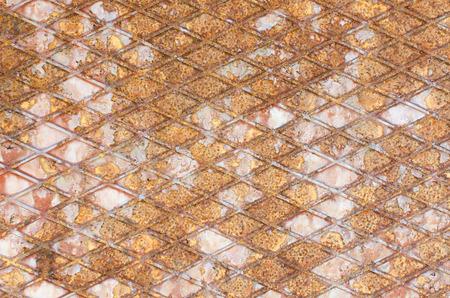 corten: rust wire mesh steel texture Stock Photo