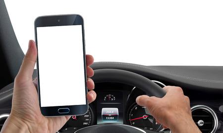 drive phone mockup isolated 스톡 콘텐츠