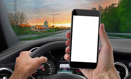 drives: drive phone mockup isolated Stock Photo