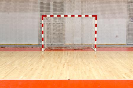 Calcetto obiettivo di pallamano futsal Archivio Fotografico - 45694496