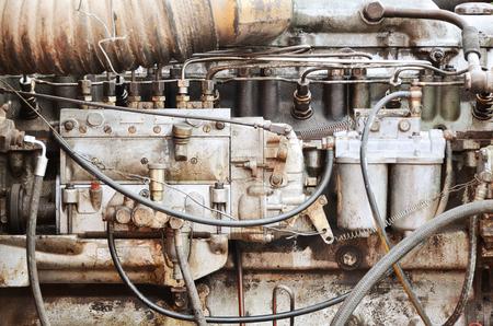 Old vintage truck engine detail
