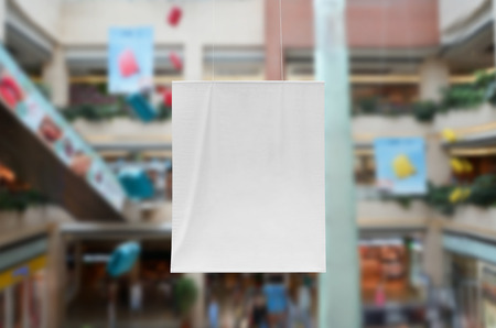 Vertical banner mockup at a shopping mall Banco de Imagens - 84828656