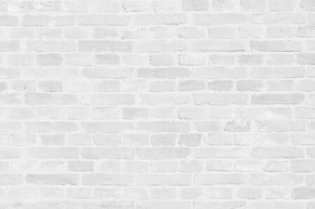 White brick wall texture background close-up