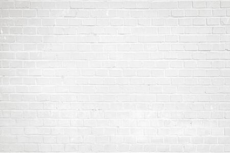 Clean white brick wall texture background