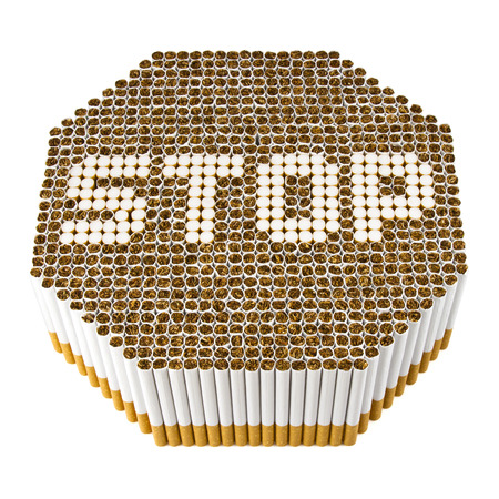 smoking issues: Stop smoking sign