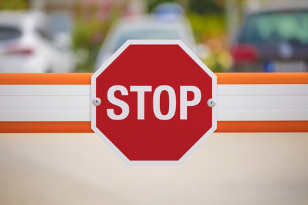 Stop Traffic Sign Stock Photo