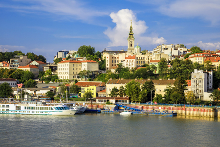 Historic center of Belgrade on the banks of the Sava River Reklamní fotografie