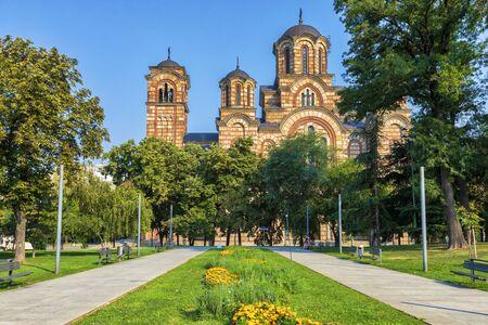 St. Mark Church in the Tasmajdan park in Belgrade.