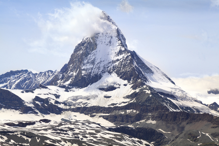 pyramid peak: Matterhorn, Alps, Switzerland