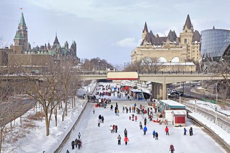 リドー運河スケート リンク、冬のカナダ議会