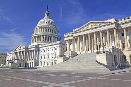 us capitol: The Eastern facade of the US Capitol Building, Washington DC