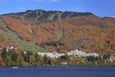 mont: Mont Tremblant and Lake in autumn, Quebec