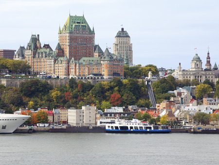 Quebec City skyline and Saint Lawrence River Stockfoto