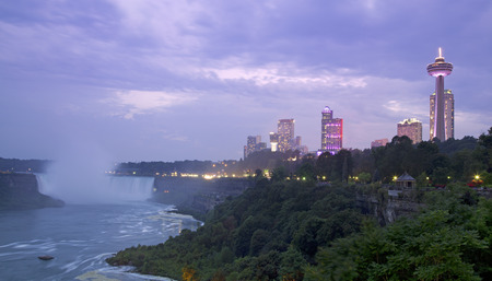 niagara river: Niagara Falls on dusk Stock Photo