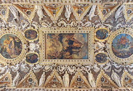 ceiling: The Four Doors Room ceiling, Doge Palace in Venice