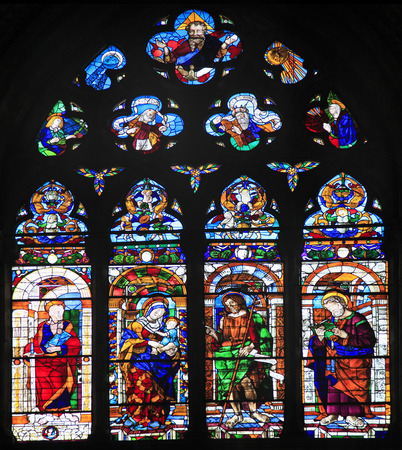 e pretty: The largest stained glass window in all Venice,  San Zanipolo Church Editorial