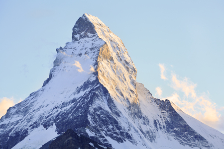 View of Matterhorn on late afternoon, Swiss 免版税图像