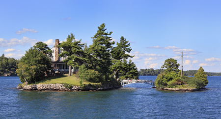 Zavikon Island, Thousand Islands, Canada Editorial
