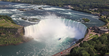 horseshoe falls: Horseshoe Falls, aerial view, Niagara