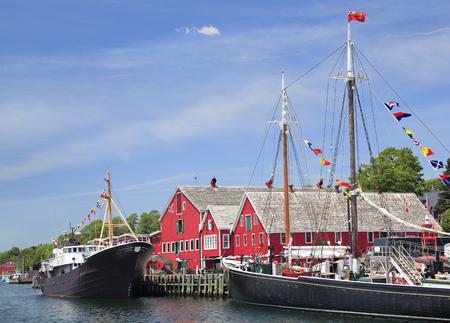 scotia: Lunenburg waterfront, Nova Scotia, Canada Stock Photo