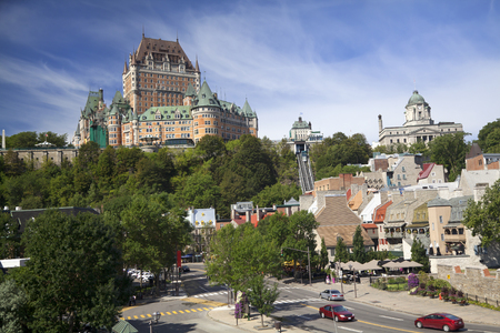 chateau: Quebec City skyline with Chateau Frontenac, Canada