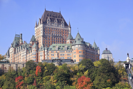 Chateau Frontenac in autumn, Quebec City, Canada Stock Photo - 49261711